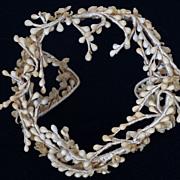 Vintage 1930s Wax Floral Bridal Tiara / Headpiece