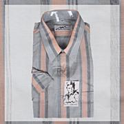 1970s Unused Short Sleeve Cotton Shirt NOS Michel Robichaud Mens Size XL