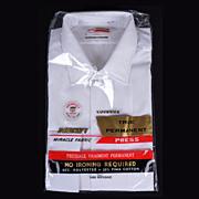 1960s Unused Permanent Press White Shirt NIP Long Sleeve Mens Size L 16