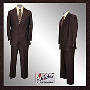 Disco Era Mens Suit Size S / M Vintage 1975