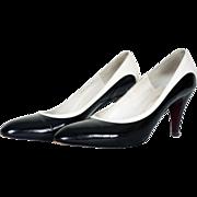 1980s Bruno Magli Black & White Pump Shoes