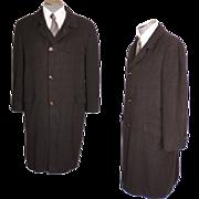 Vintage Mens Coat 100% Cashmere Topcoat 1960s Overcoat Size M