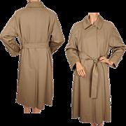 Vintage English Aquascutum Raincoat Wool Gabardine Ladies Size M UK 56