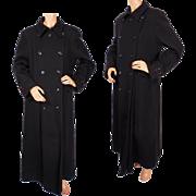 Vintage JNY Jones New York Wool Twill Maxi Coat Military Style Ladies Size 10