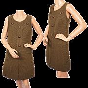 Vintage 60s Mod Jumper Shift Dress Haute Couture Nino Bubnic Montreal