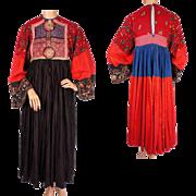 Vintage 60s Afghan Tribal Hippie Dress Kuchi Nomad Afghanistan Size S / M