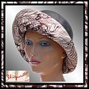 Vintage 1960s Schiaparelli Paris Hat Upturned Brim