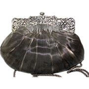 SOLD Antique Silver Revivals Purse with Angel Edwardian Frame