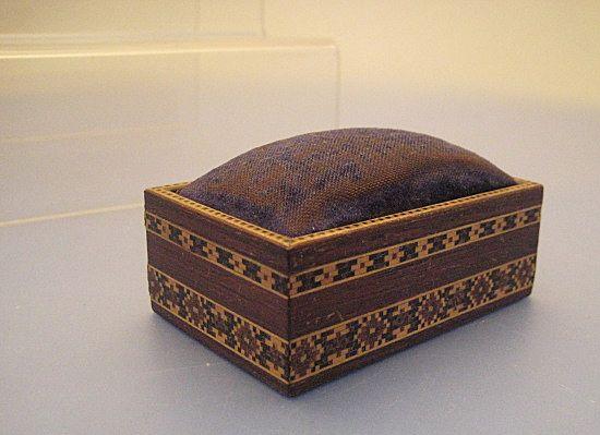 Pin Box/Cushion in Tunbridgeware - Victorian