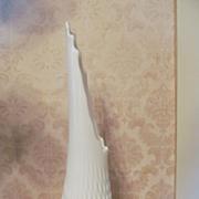 "Fenton Milk Glass Hobnail 17 1/2"" Swung Vase"