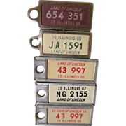 1964-68 Car License Plates, Key Chain Tags