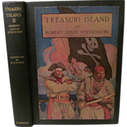 SOLD 1911 Treasure Island by Robert Louis Stevenson, Illustrated by N C Wyeth, Publ Charles Sc