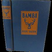 SOLD 1929 Bambi by Felix Salten, Publ Grosset & Dunlap
