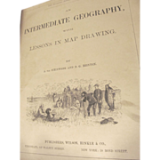 1870 Eclectic Series Intermediate Geography #2 with Lessons of Map Drawing, by A Von Steinwehr