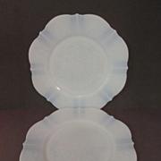 "2 American Sweetheart Monax 8"" Plates, Center Pattern..MacBeth Evans + 2 More"