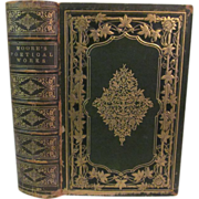 1858 The Poetical Works of Thomas Moore, Complete in One Volume, Illustrated, Publ Leavitt & .