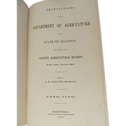 1875 Transactions of the Department of Agriculture of the State of Illinois County Agricultura
