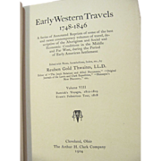1904 Early Western Travels 1748-1846, Vol VIII, Tilly Buttrick & Estwick Evans, Edited by