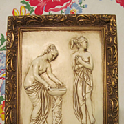 SOLD 1967 Maiden Plaster Wall Plaque by Roncraft