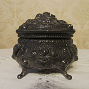 Metal Water Lily Powder Box, SP with Anchor Mark