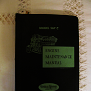 1959 EMD Diesel Locomotive Engine Maintenance Manual  for Model 567C Engines, General Motors C