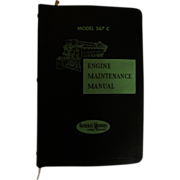 1959 EMD Diesel Locomotive Engine Maintenance Manual  for Model 567C Engines, General Motors .