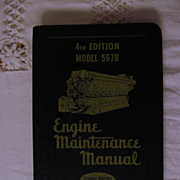 1953 EMD Diesel Locomotive Engine Maintenance Manual for Model 5678 Engines, General Motors Co