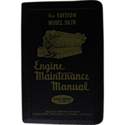 1953 EMD Diesel Locomotive Engine Maintenance Manual for Model 5678 Engines, General Motors ..