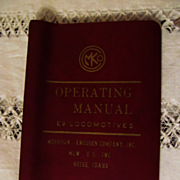 1973 Diesel Electric Locomotive Operating Manual #C2622 for Burlington Northern Model E9, Morr