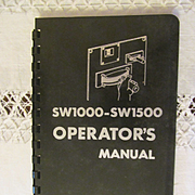 SOLD 1969 EMD Diesel Locomotive SW1000-SW1500 Operators Manual, General Motors
