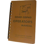 1966 EMD Diesel Locomotive  SD40 - SDP40 Operators Manual, General Motors