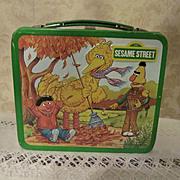 1983 Metal Aladdin Sesame Street Lunch Box with Bert, Ernic, Big Bird & Others