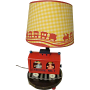 Nursery Originals Wood Nursery Lamp, Railroad Train with Shade, 3 Way Switch