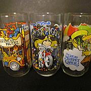 1981 Muppets, The Great Muppet Caper, McDonalds Henson Promo Glasses