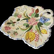 Blue Ridge Southern Potteries Verna Maple Leaf Handled Tray
