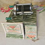 Pflueger #1893 Level Wind Scarlet Jeweled, Anti Backlash Fishing Reel with Box & Paperwork