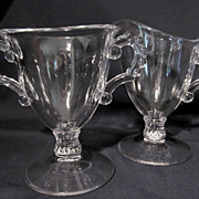 Lg Candlewick Imperial Footed Creamer & Sugar Set