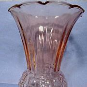 """Anchor Hocking Pink Pineapple 9"""" Vase"""