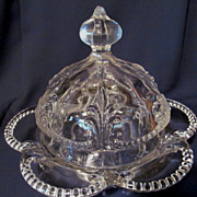 EAPG Pattern Glass Butter/Cheese Dish