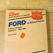 Clymer Ford Shop Parts/Repair Manual 1969-85  4 Wheel Drive,Truck/Bronco
