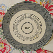 1980 Currier & Ives Calendar Plate