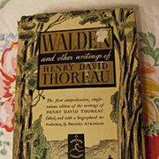 Walden and other writings of Henry David Thoreau, 1937, HB DJ
