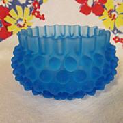 Hobbs Brockunier Dewdrop,Blue Satin Bowl