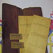 Early Streetcar Tri City Railway Ticket Wallet,Child Tickets,Passenger Reports