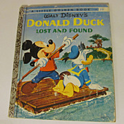 "1960 Golden Book ""A"",Donald Duck,Lost and Found, Walt Disney"