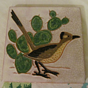 Road Runner, South Western Red Ware Tile