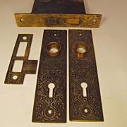 SOLD Victorian Russell & Erwin Door Plate Set