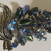 "Lovely 3"" Rhinestone Brooch"