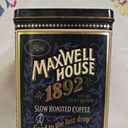 1992 Maxwell House Coffee Tin, 100th Anniversary