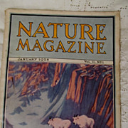 SOLD 1928 Nature Magazine, January, Vol 11, No1